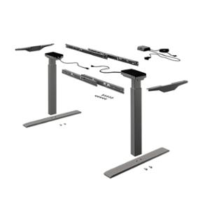 Oснови за маса Change Top Desk support sets, черен 9277886 HETTICH с подарък плот по избор